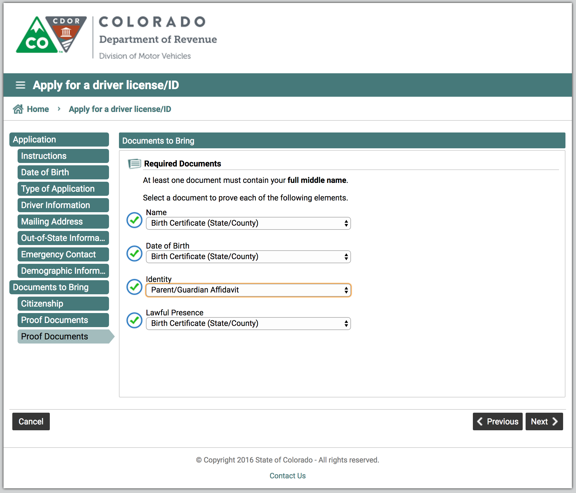 colorado state drivers license department